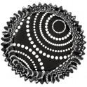 Capsulas Negras con lunares  pk/36