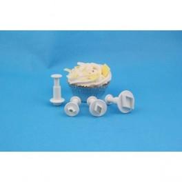 Set de 3 cortadores rombo miniatura