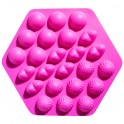 Molde silicona formas cake-pops