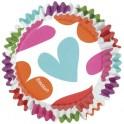Capsulas Coloridas formas Corazón