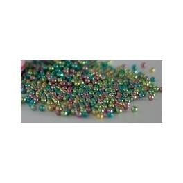 Perlas multicolor metalizadas 4mm.-20gr.