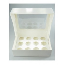 Caja para 12 mini cupcakes