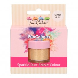 FunCakes Edible FunColours Sparkle dust-Glitter Gold