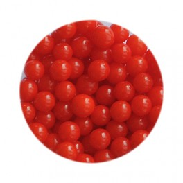 Perlas rojo brillante 4mm. 20gr.