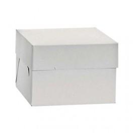 Caja Tarta Alta blanca 26,5x26,5x25cm.