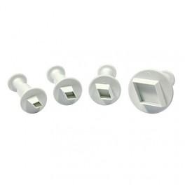 Set de 4 cortadores rombo miniatura