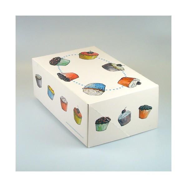 Caja para transportar 6 cupcakes