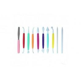 Set 10 herramientas corte y modelado