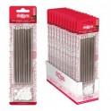 16 Velas metalicas color plata