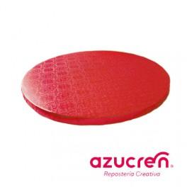 Base redonda roja 1,2cm. x  25cm.