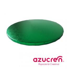 Base redonda verde 1,2cm. x  25cm.