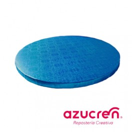 Base redonda azul 1,2cm. x  25cm.