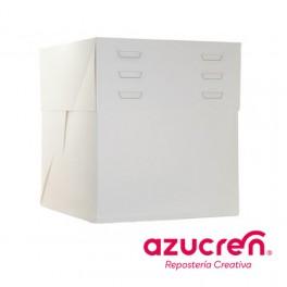 Caja Tarta Alta blanca 25x25 altura 20 a 30cm.