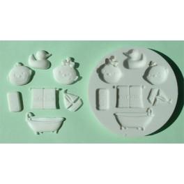 molde silicona baño bebe