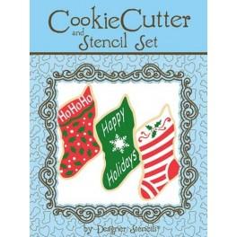 Cortador y plantillas calcetines navideños